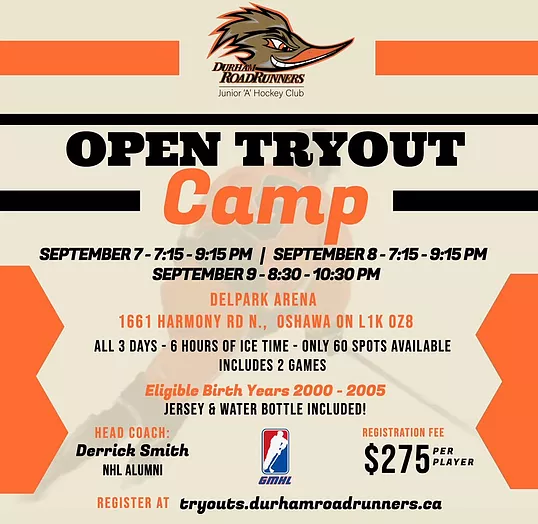 Durham Roadrunners Tryout Camp